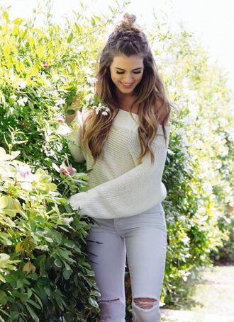 jeans jojo fletcher off the shoulder off the shoulder sweater instagram