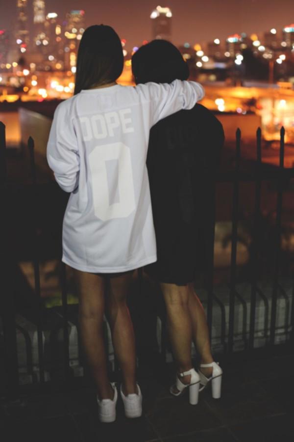 t-shirt fashion black white top girly model streetwear jersey shirt sweater jacket dope