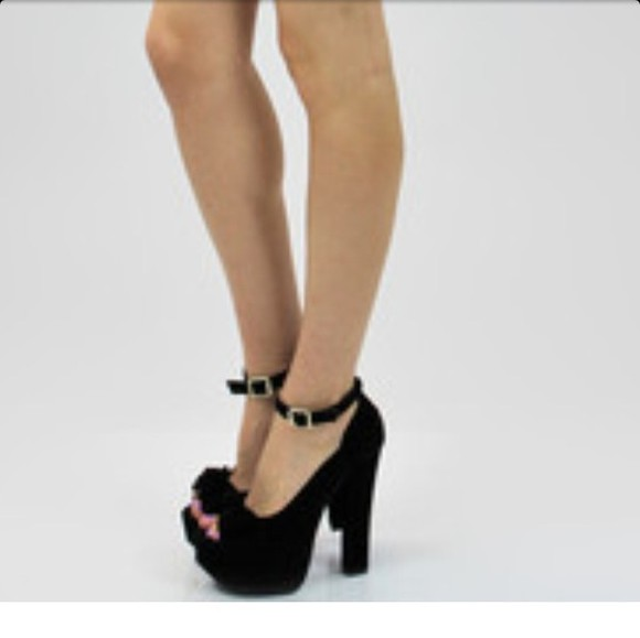shoes open toes black pumps one strap love shoes buckle Platform
