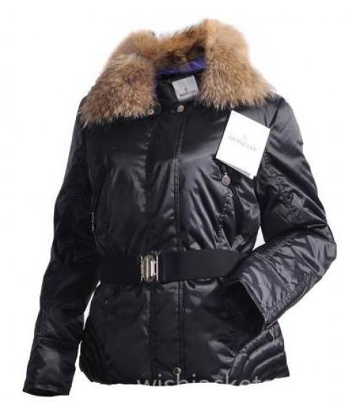 Moncler Women Jacket Outlet Dark Blue Bj130451
