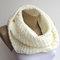 Ivory cream infinity knit scarf ,winter scarf ,women scarf neckwarmer ,chunky circle scarf ,cream unisex eternity , gift ideas senoaccessory