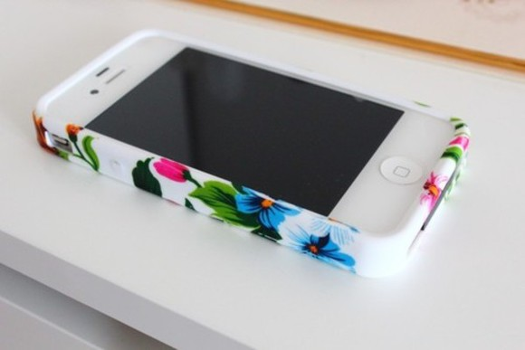 white phone case floral iphone case sililcon flowers case pink yellow blue green iphone 5 case phone cover. jewels iphone case studded iphone case floral iphone 4 case tropical floral case sunglasses phone case phone case