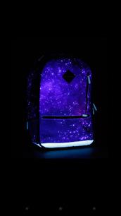 bag,sprayground,galaxy print,backpack,glow in the dark