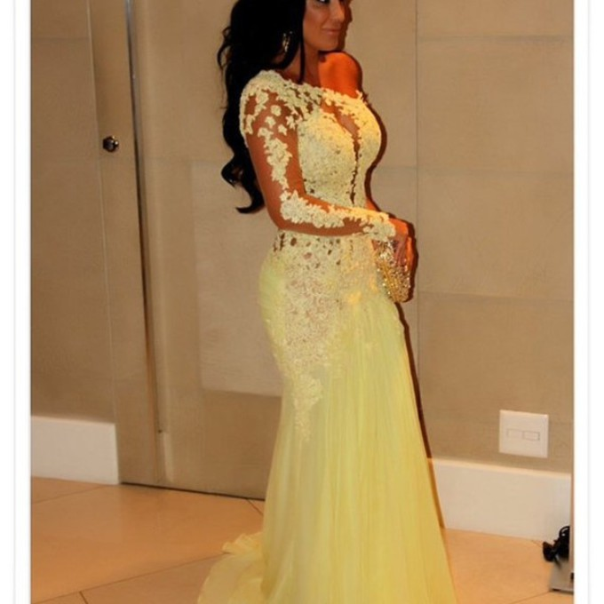 Pale yellow prom dresses 2014 – Dress and bottoms