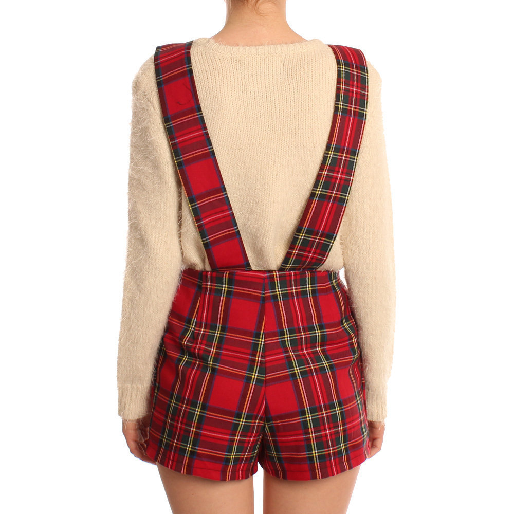 Hearts & Bows Tartan Barkhamstead Pinafore Playsuit