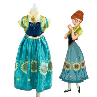 frozen dress kids fashion costume frozen