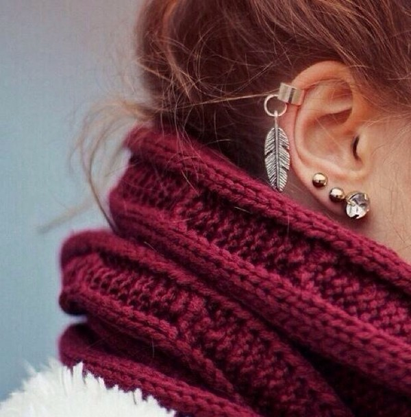 scarf burgundy jewels
