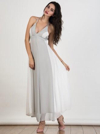 dress chiclook closet summer dress classy grey fashion style