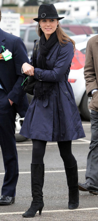 kate middleton black boots coat