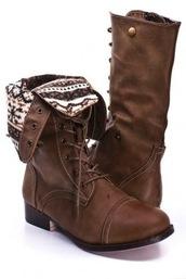shoes,print,brown,combat boots