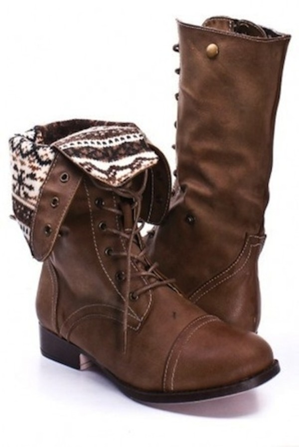Combat Boots Brown Women