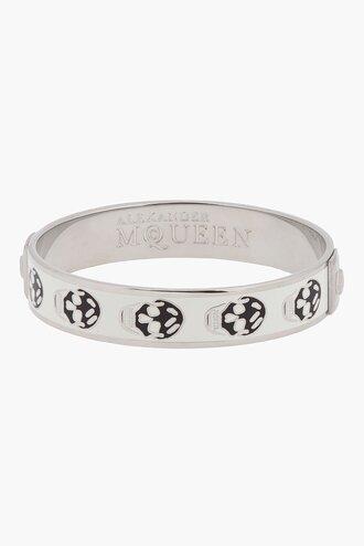 palladium white small enamel skull bangle accessories women bracelets jewels