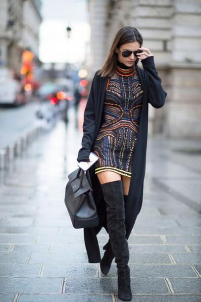 Moda ulice 8f3zk1-l-610x610-dress-mini+dress-boots-knee+boots-alessandra+ambrosio-coat-streetstyle-fashion+week+2016-paris+fashion+week+2016-model+duty-bag