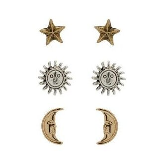 jewels sun moon stars earrings star earrings studs stud earrings jewelry