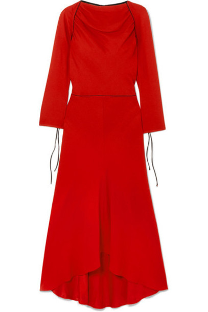 MARNI dress midi dress midi red