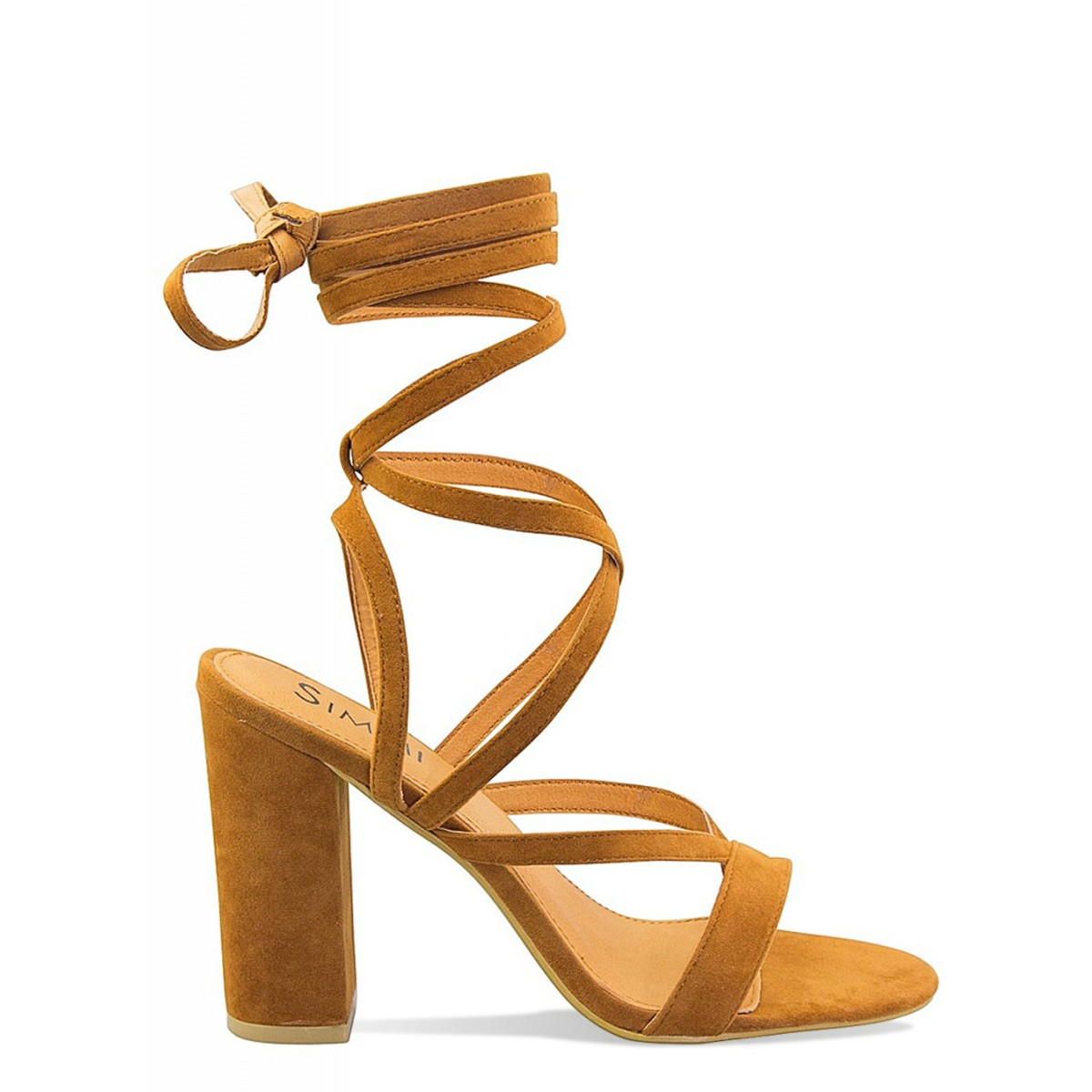 Pia Tan Lace Up Block Heels : Simmi Shoes - Love Your Shoes!