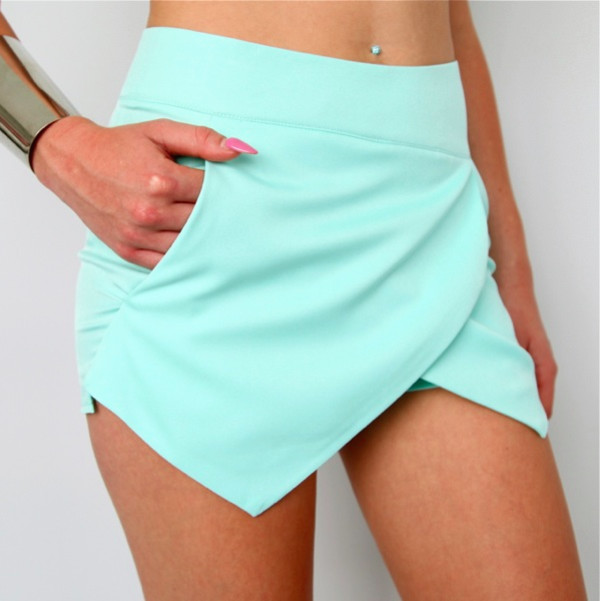 crossover wrap skorts mint crossover shorts
