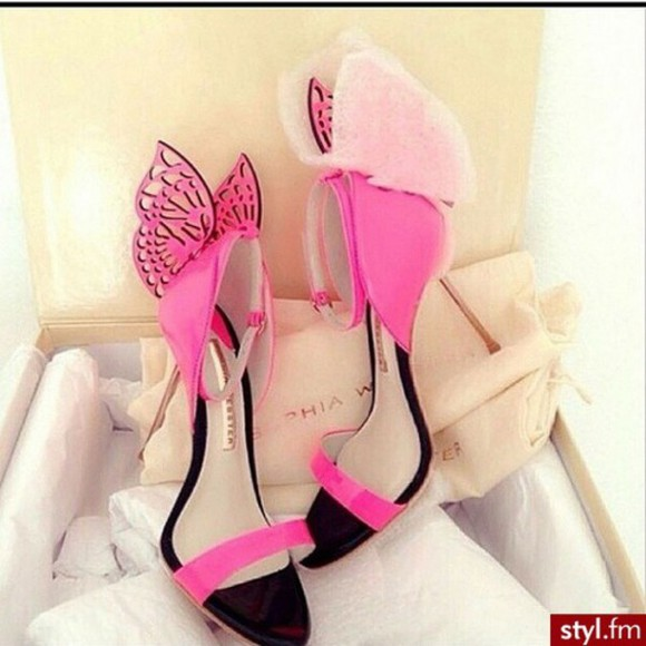 butterfly shoes high heels