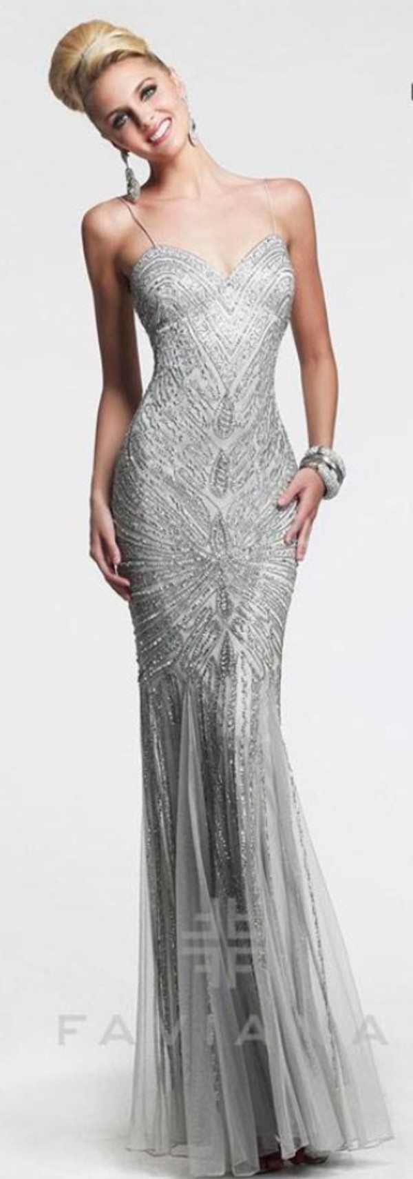 prom dress silver homecoming dress dress