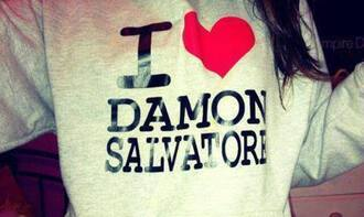 sweater damon salvator pullover the vampire diaries stefan salvatore damon salvatore hoodie ian somerhalder love him shirt