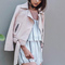 Women's zipper suede basic jacket