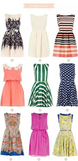 dress flowers dots stripes mixed summer
