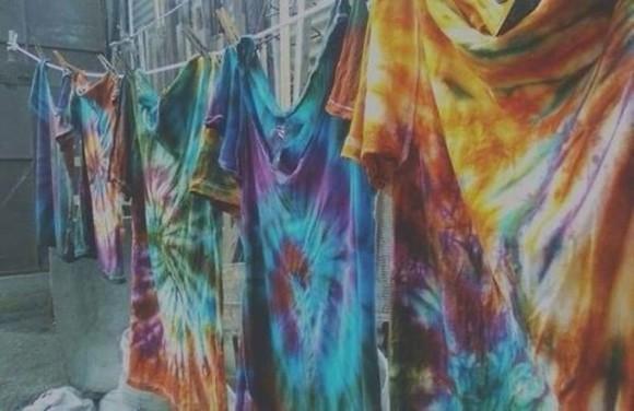 t-shirt multicolor skirt hippie color