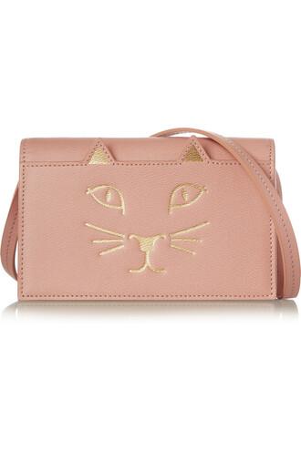 bag shoulder bag leather blush