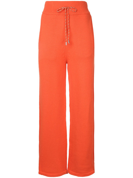 Christian Dada high women wool yellow orange pants