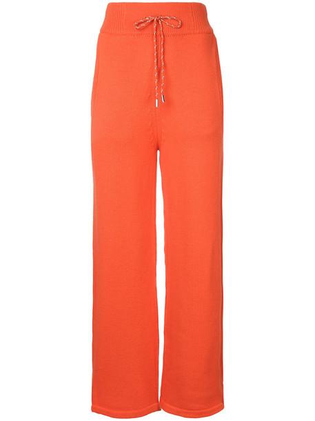 high women wool yellow orange pants