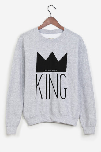 sweater king gris grey sweater