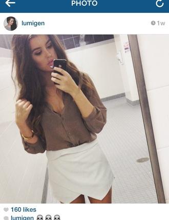 skirt white short