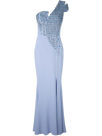 gown blue dress