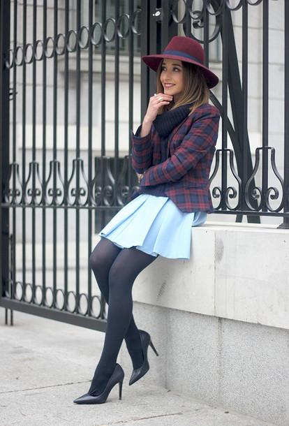 besugarandspice blogger jacket skirt sweater jewels hat sunglasses