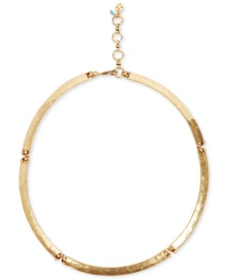 Robert Lee Morris Necklace, Gold-Tone Half-Moon Collar Necklace - Fashion Jewelry - Jewelry & Watches - Macy's
