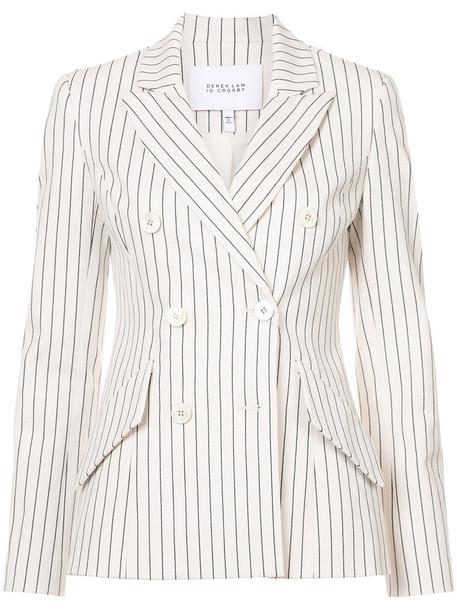 DEREK LAM 10 CROSBY blazer women spandex white cotton jacket