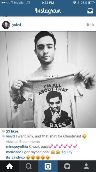 shirt chuck bass mens t-shirt music