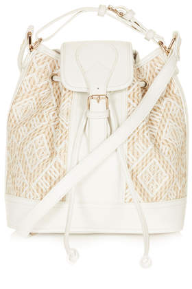Straw Duffle Bag - Bags & Purses  - Bags & Accessories  - Topshop