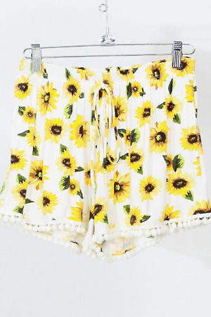 Summer Sun Flower shorts - Nerdy Youth