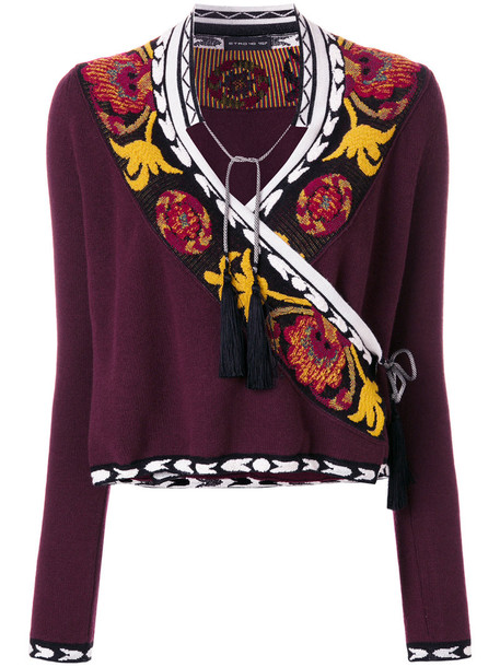 ETRO sweater women wool purple pink