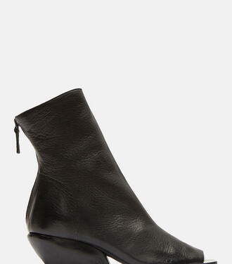 open ankle boots black shoes