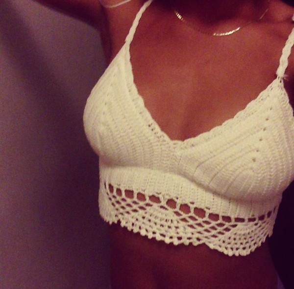 shirt white top cotton crop cream lace lacecroptop