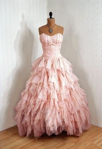 dress pink chiffon