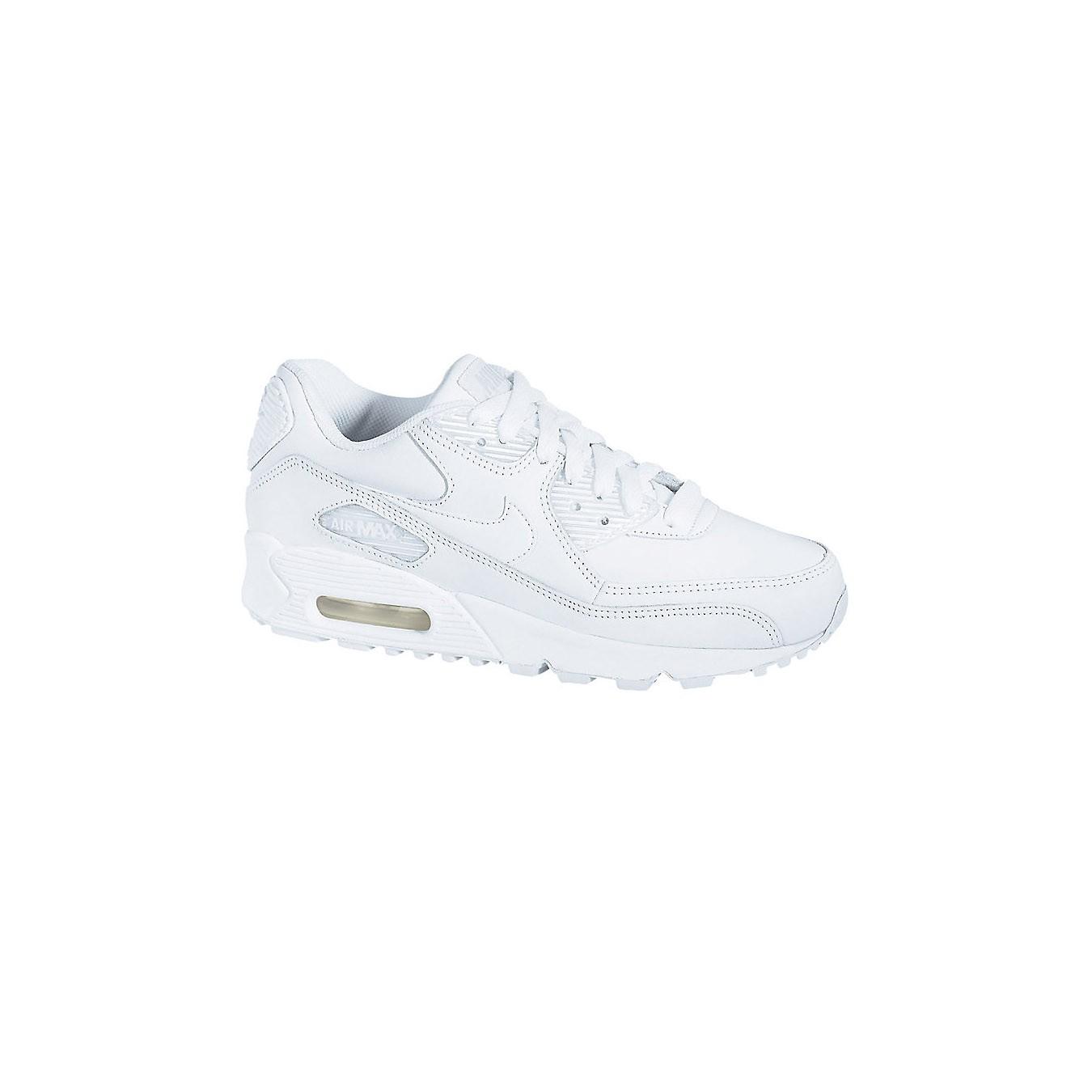 Nike - Air Max 90 Grade School (White | White) | KicksUSA.com