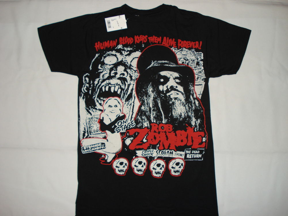 Rob zombie heavy metal rock blood new t shirt 2xl zombie horror death skull