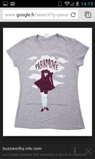 t-shirt paramore rock