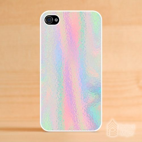 For Apple iPhone 4/4s Hologram Holographic *Style Pastel ColorsCute Case Cover