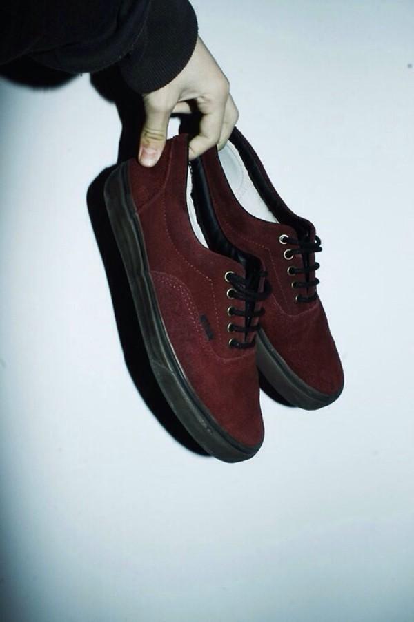 shoes vans suede vans tumblr goth vans maroon vans burgyndy vans vans