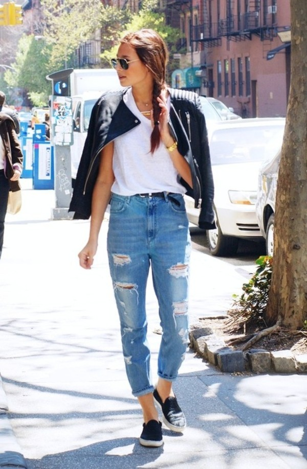 jeans boyfriend jeans grunge tumblr hipster high waisted jeans jacket coat