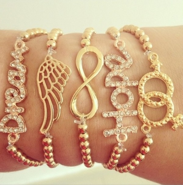 jewels set bracelets stacked bracelets wings bracelets bracelets infinity angel wings